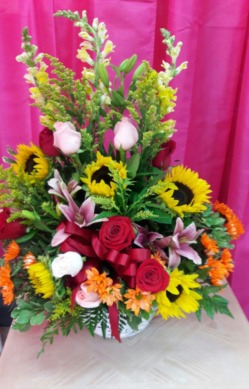 Tropical flowers in a basket iris florist tropical flowers in a basket izmirmasajfo