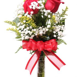 3 roses vase